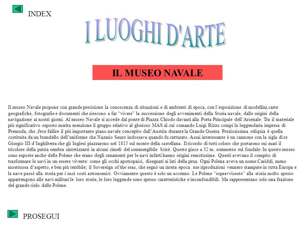 I LUOGHI D ARTE IL MUSEO NAVALE INDEX PROSEGUI