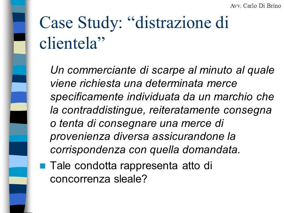 Case Study: distrazione di clientela