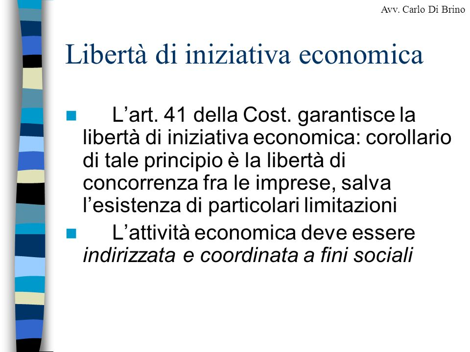 Libertà di iniziativa economica