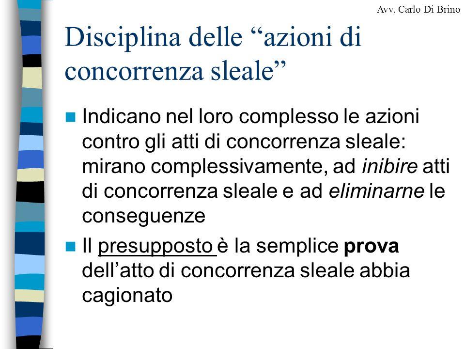 Disciplina delle azioni di concorrenza sleale
