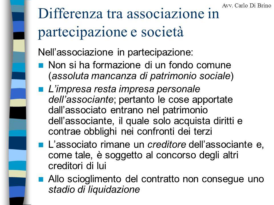 Differenza tra associazione in partecipazione e società