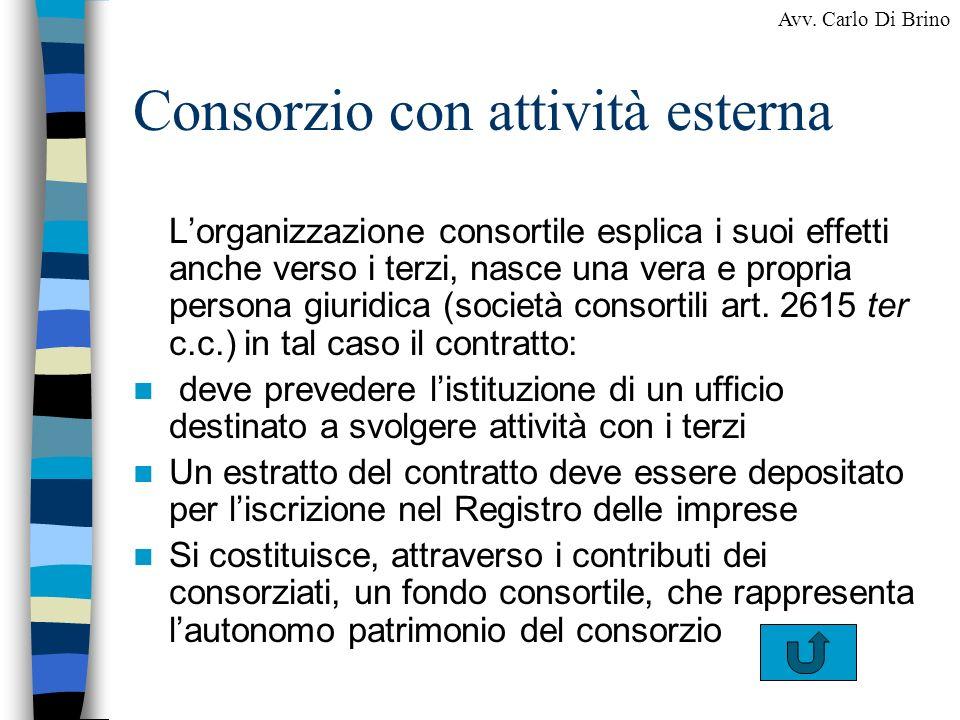 Consorzio con attività esterna
