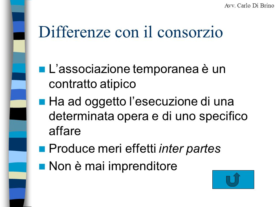 Differenze con il consorzio