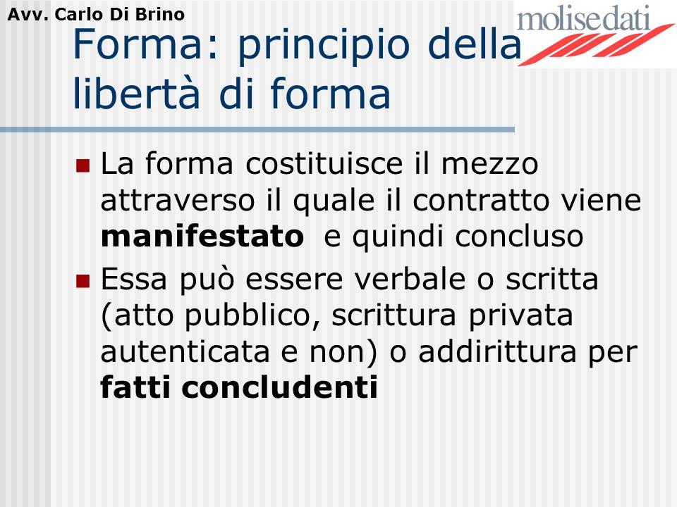 Forma: principio della libertà di forma