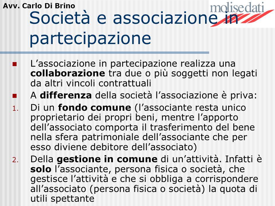 Società e associazione in partecipazione