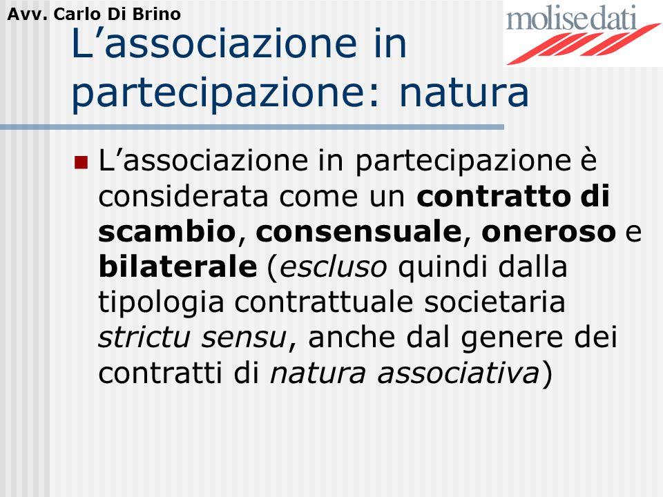 L'associazione in partecipazione: natura