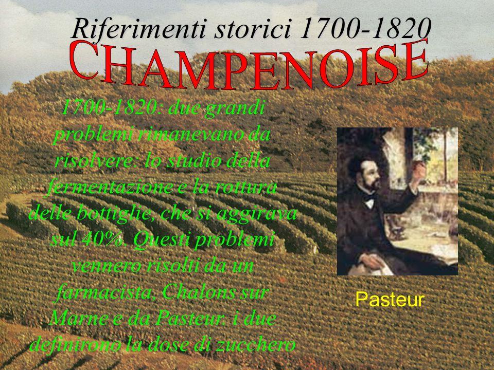 Riferimenti storici 1700-1820 CHAMPENOISE