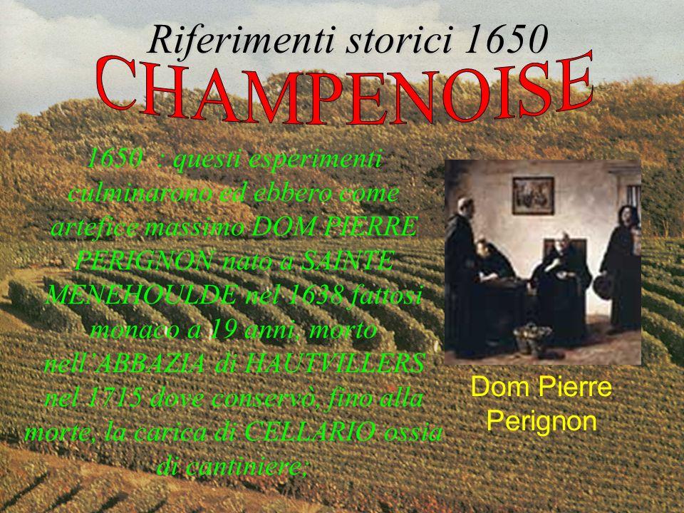 Riferimenti storici 1650 CHAMPENOISE
