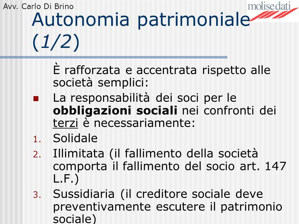 Autonomia patrimoniale (1/2)