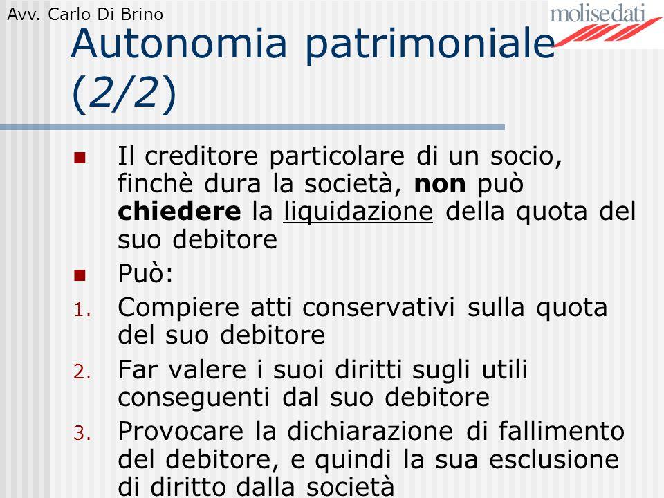 Autonomia patrimoniale (2/2)