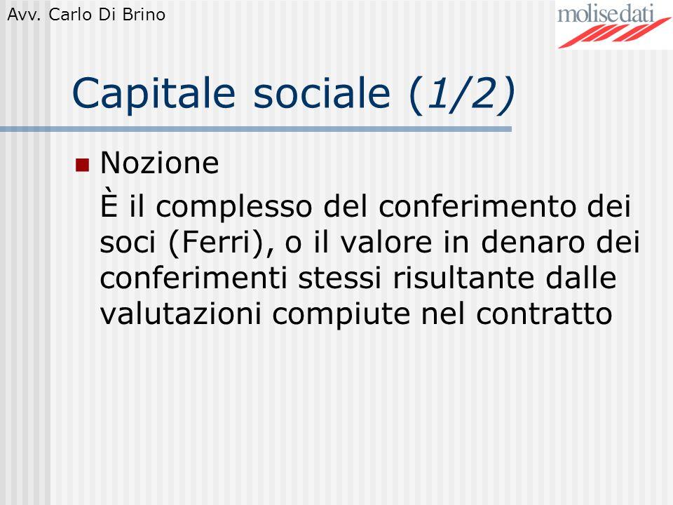 Capitale sociale (1/2) Nozione