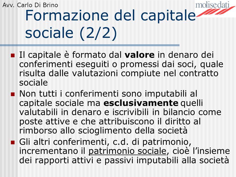 Formazione del capitale sociale (2/2)