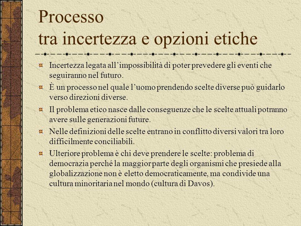 Processo tra incertezza e opzioni etiche