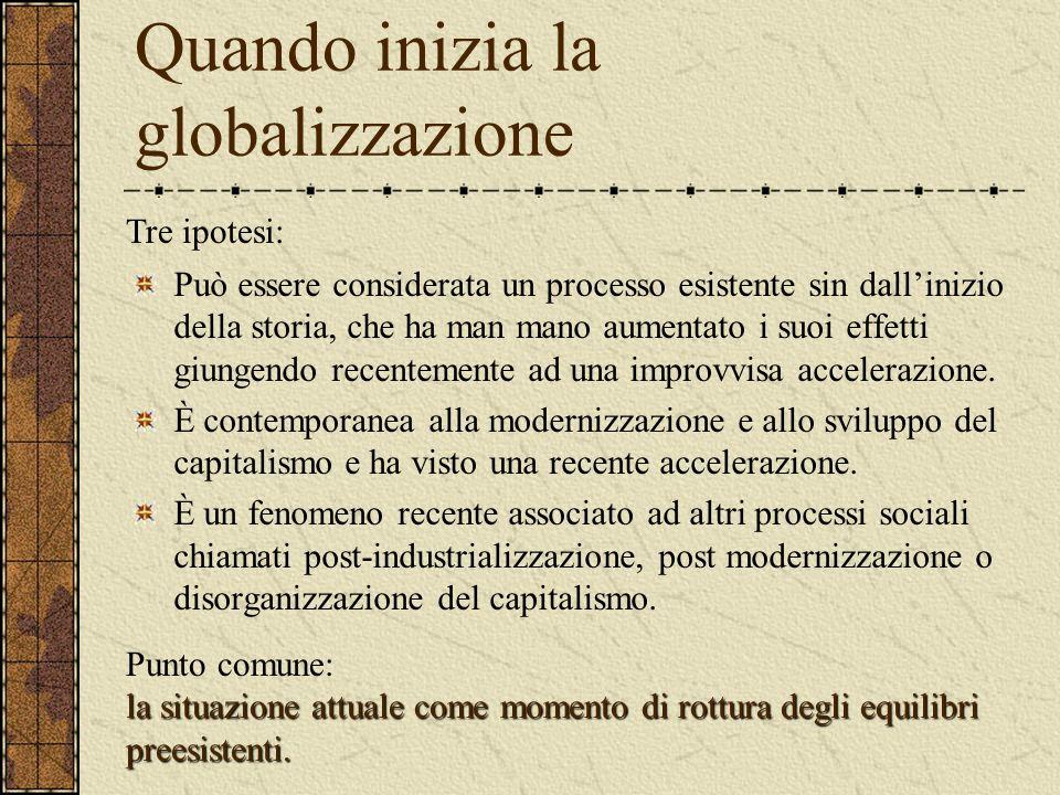 Quando inizia la globalizzazione