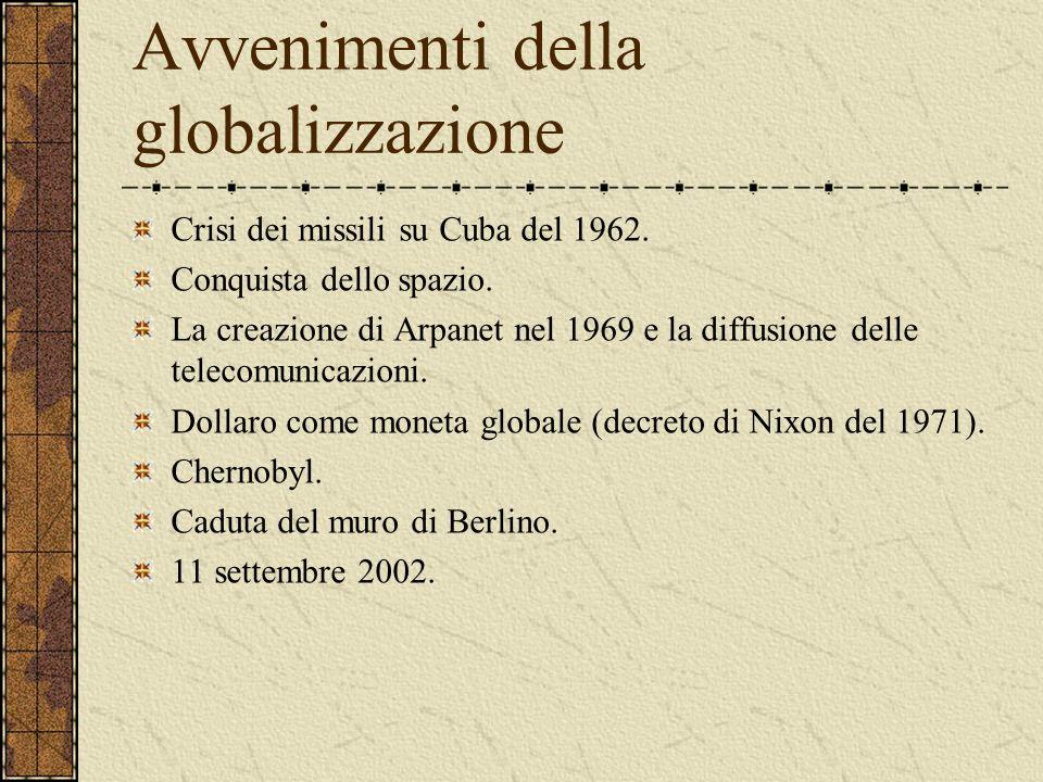 Avvenimenti della globalizzazione