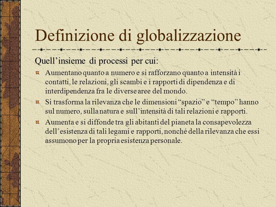 Definizione di globalizzazione