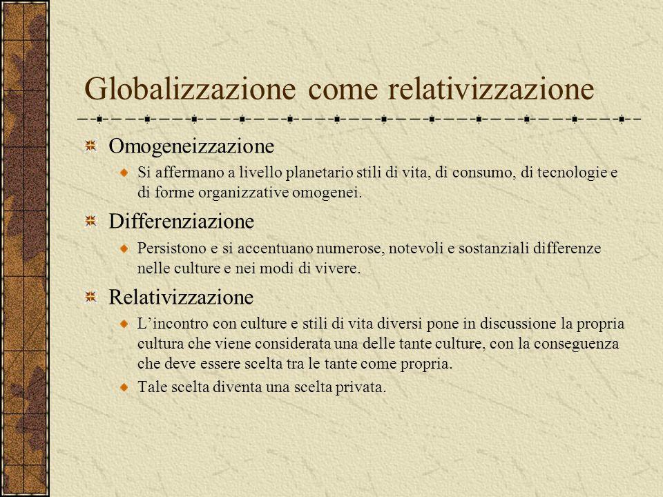 Globalizzazione come relativizzazione