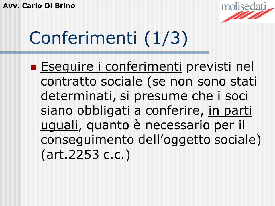 Conferimenti (1/3)