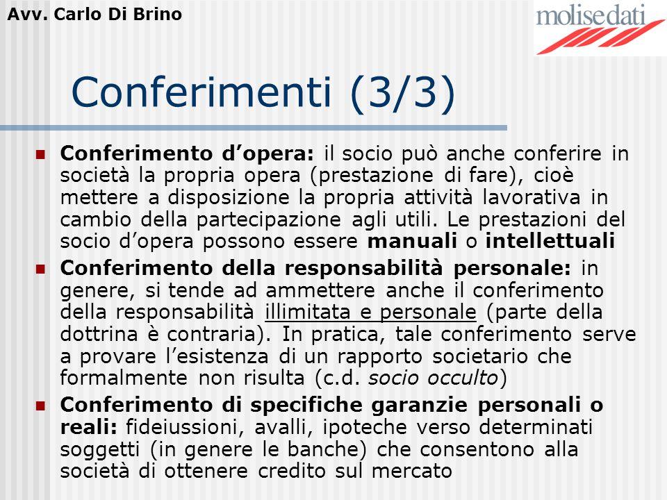 Conferimenti (3/3)