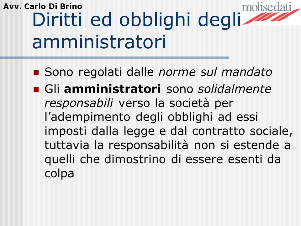 Diritti ed obblighi degli amministratori