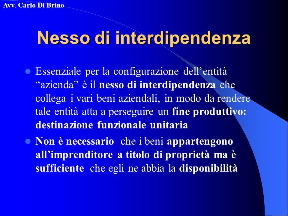 Nesso di interdipendenza