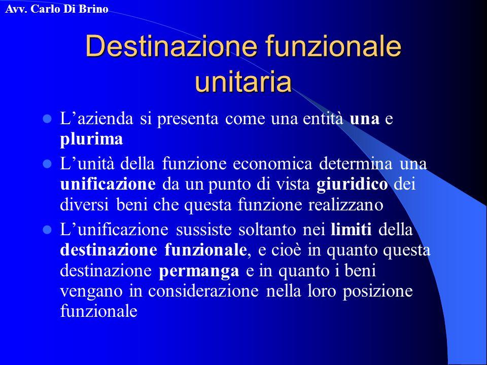 Destinazione funzionale unitaria