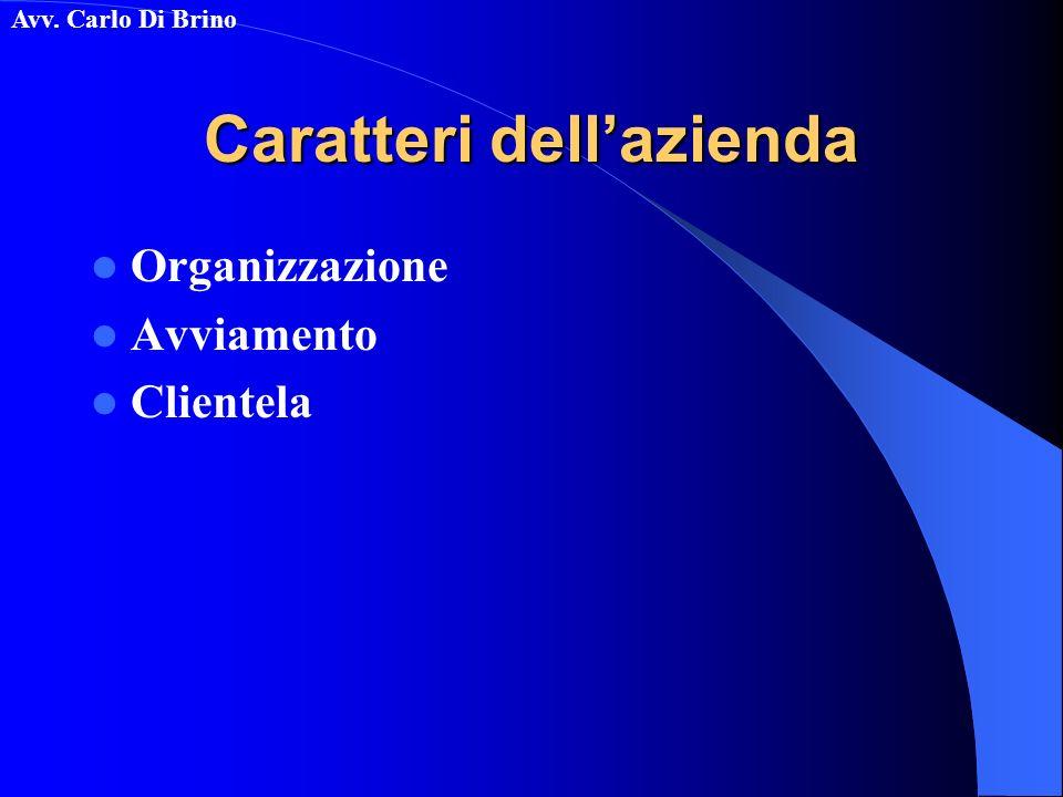 Caratteri dell'azienda