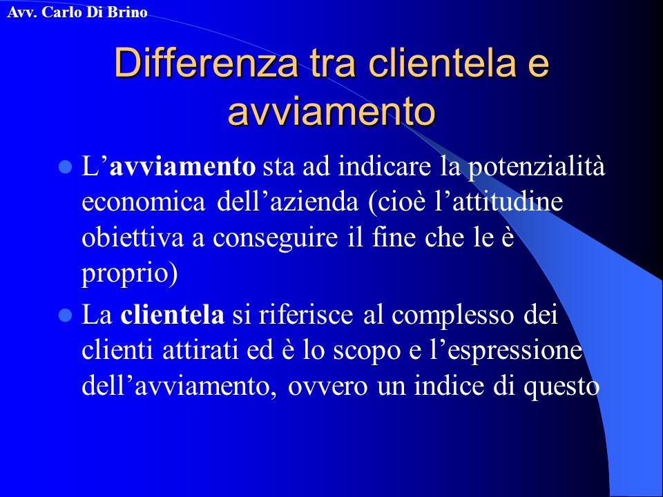 Differenza tra clientela e avviamento