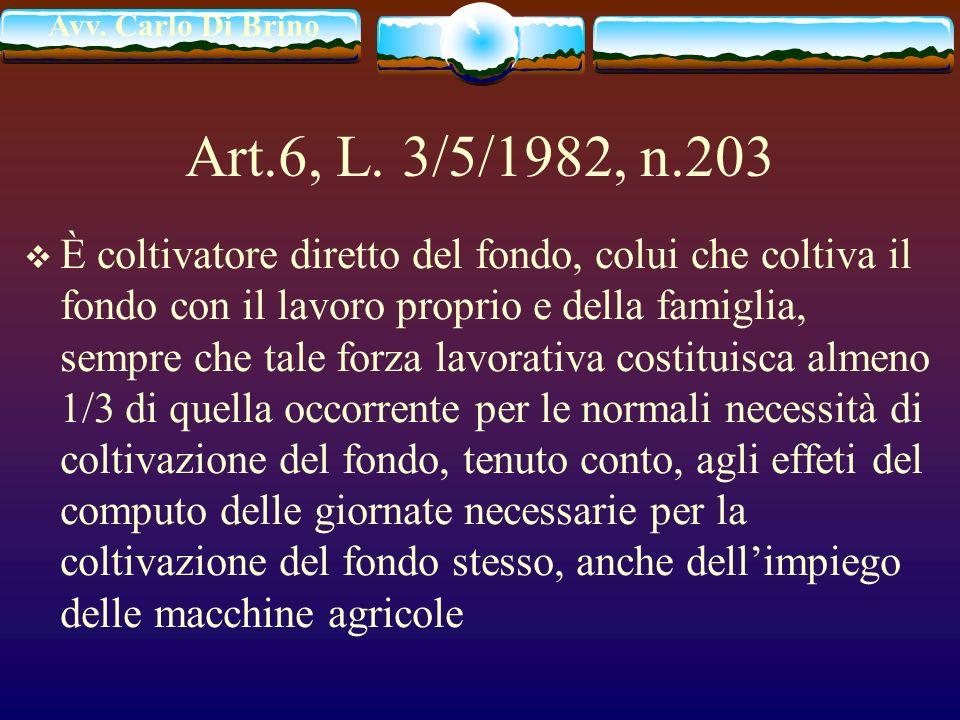 Art.6, L. 3/5/1982, n.203