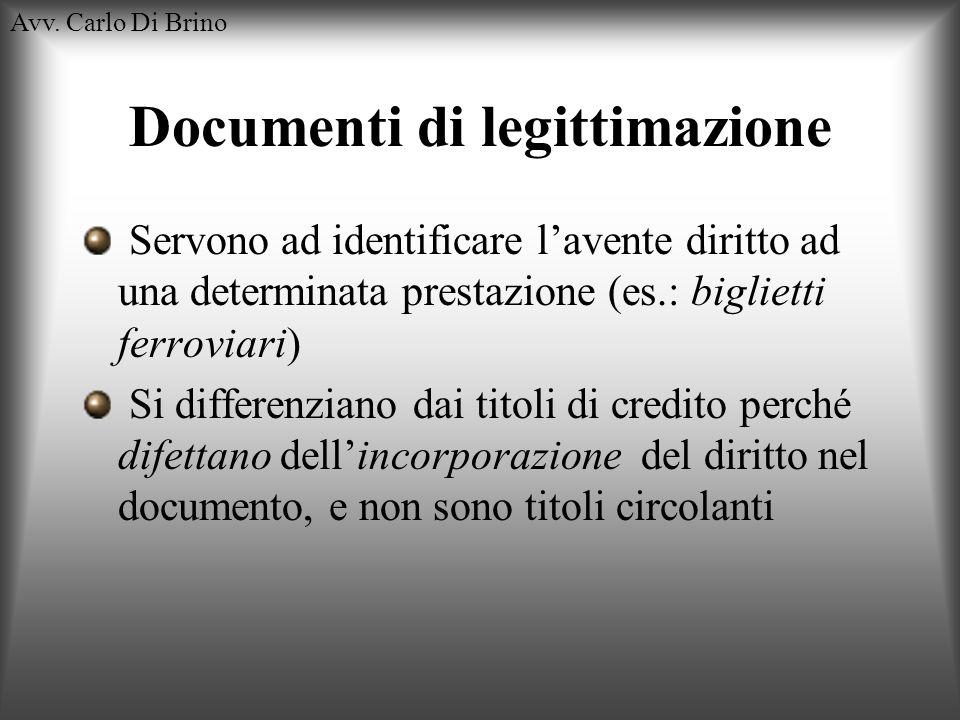 Documenti di legittimazione