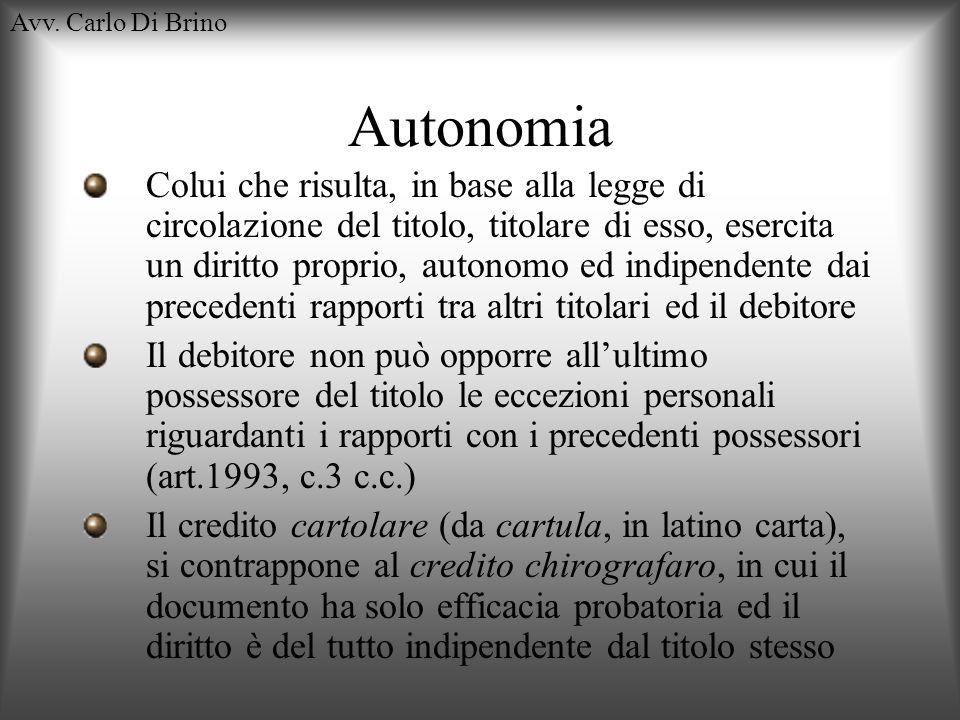 Avv. Carlo Di BrinoAutonomia.