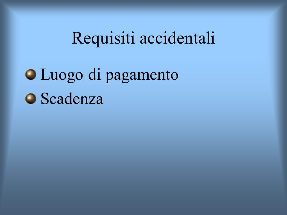 Requisiti accidentali