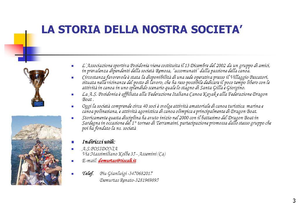 LA STORIA DELLA NOSTRA SOCIETA'