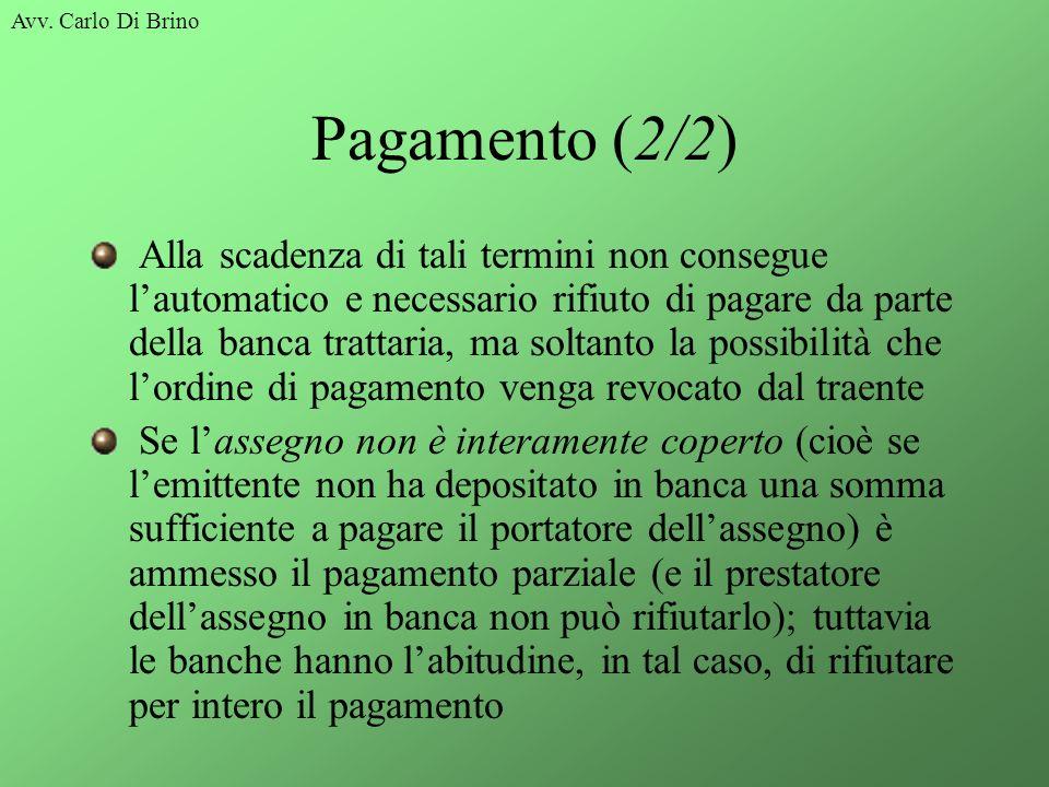 Avv. Carlo Di Brino Pagamento (2/2)