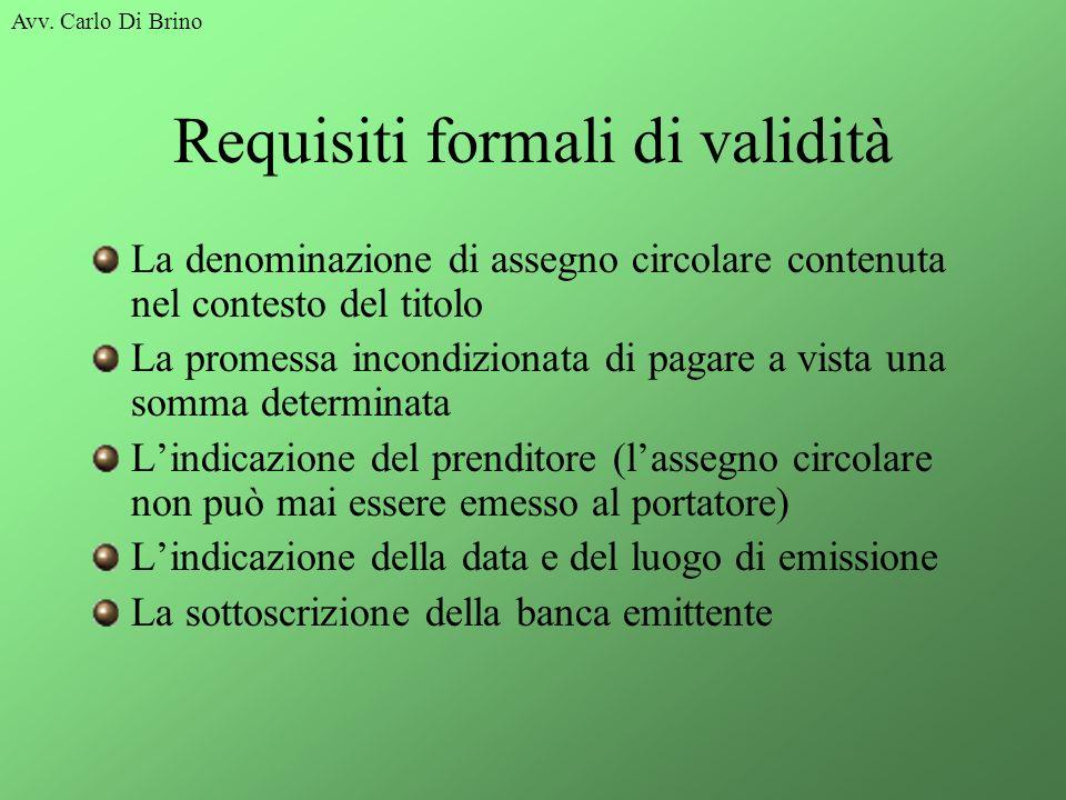 Requisiti formali di validità
