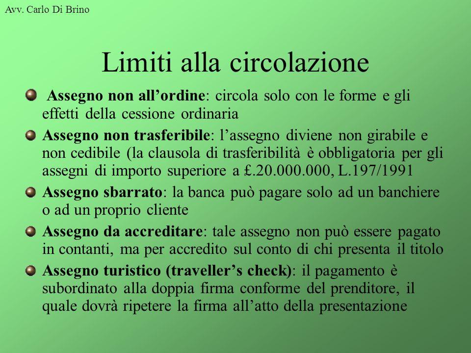 Limiti alla circolazione