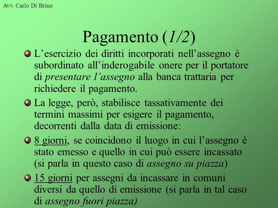 Avv. Carlo Di Brino Pagamento (1/2)