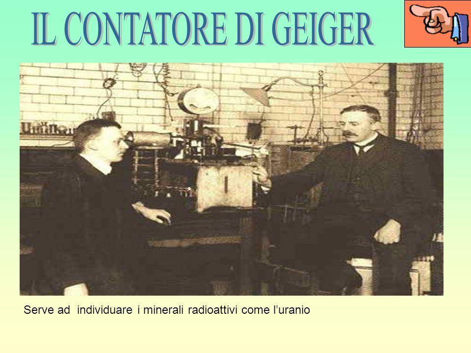 IL CONTATORE DI GEIGER Serve ad individuare i minerali radioattivi come l'uranio