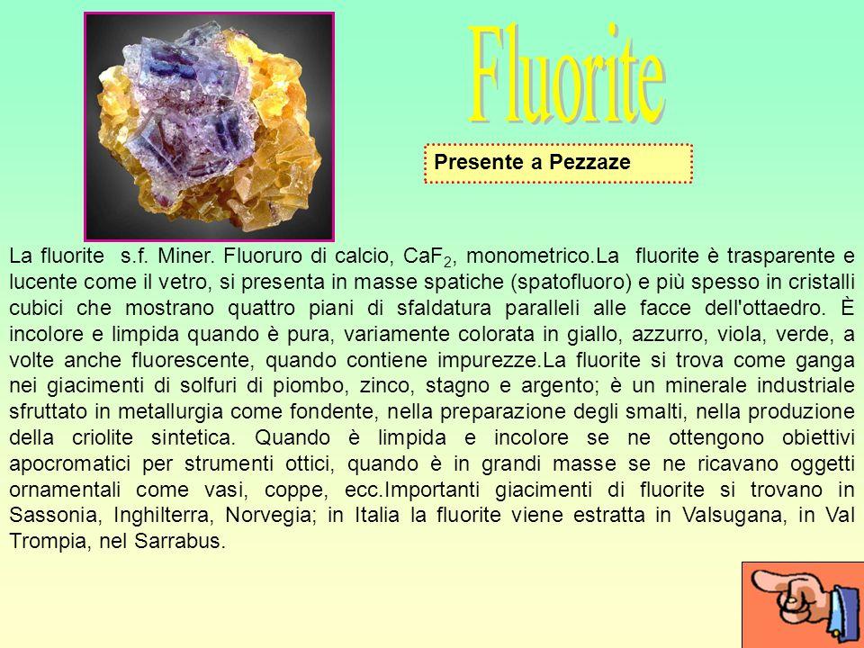 Fluorite Presente a Pezzaze