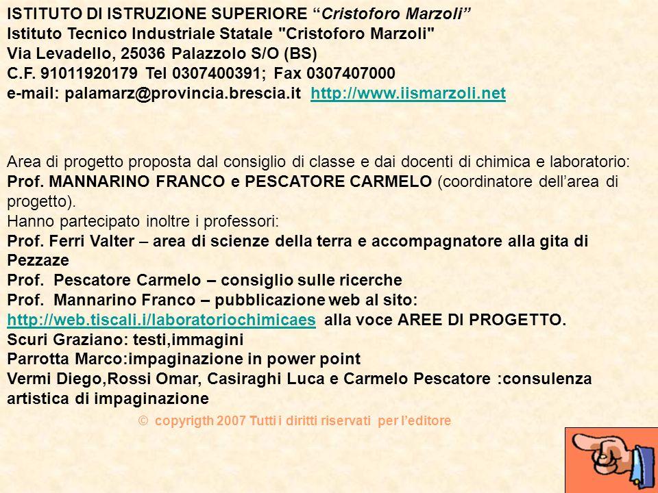 ISTITUTO DI ISTRUZIONE SUPERIORE Cristoforo Marzoli
