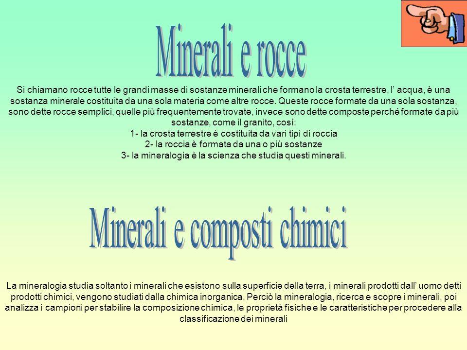 Minerali e composti chimici