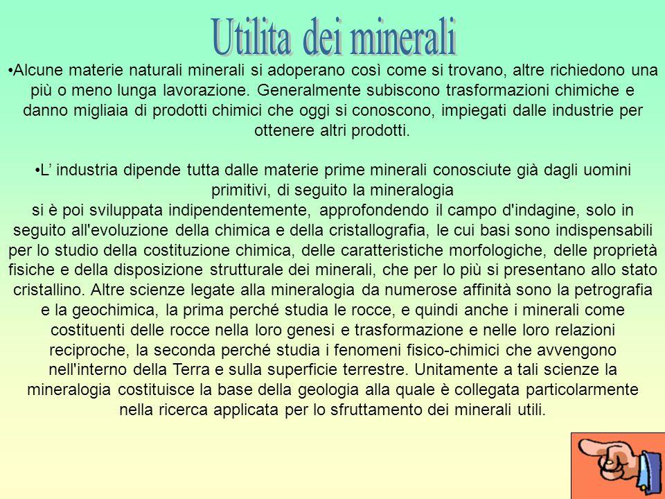 Utilita dei minerali
