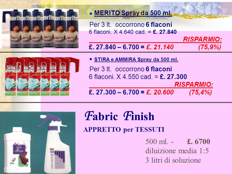 Fabric Finish APPRETTO per TESSUTI
