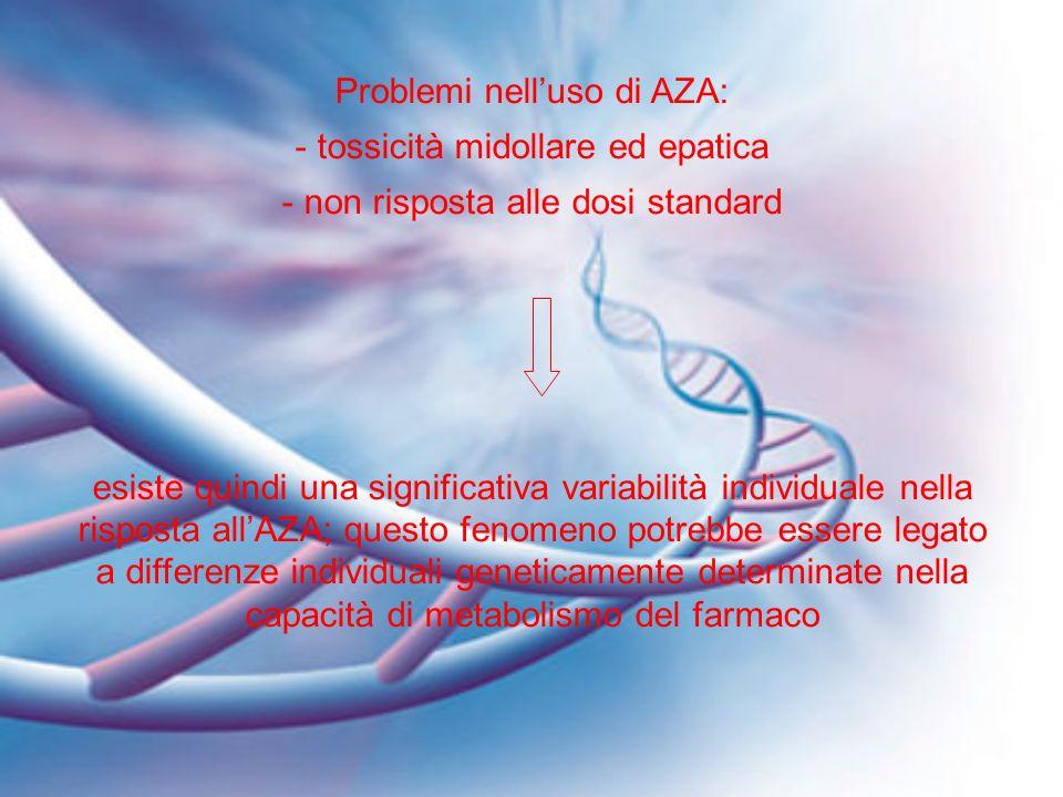 Problemi nell'uso di AZA: tossicità midollare ed epatica