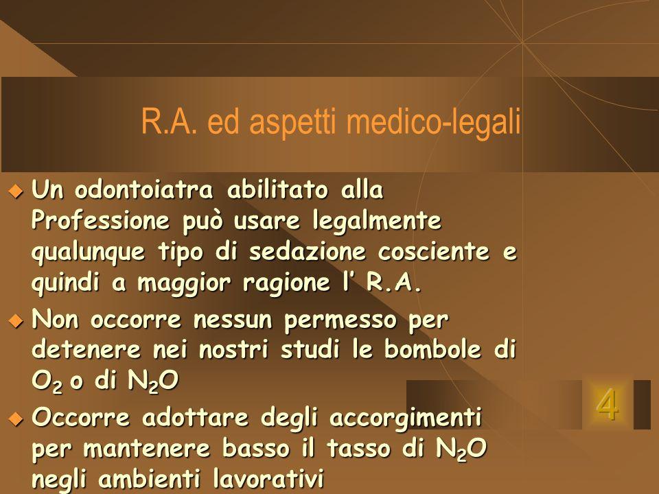 R.A. ed aspetti medico-legali