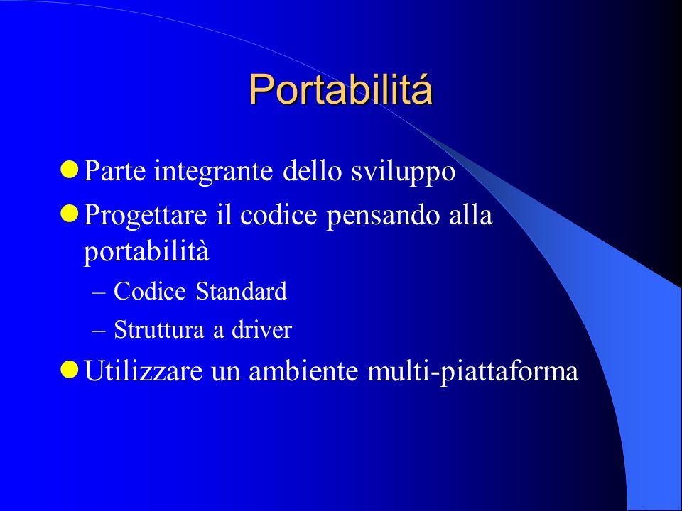 Portabilitá Parte integrante dello sviluppo
