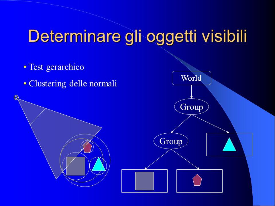 Determinare gli oggetti visibili