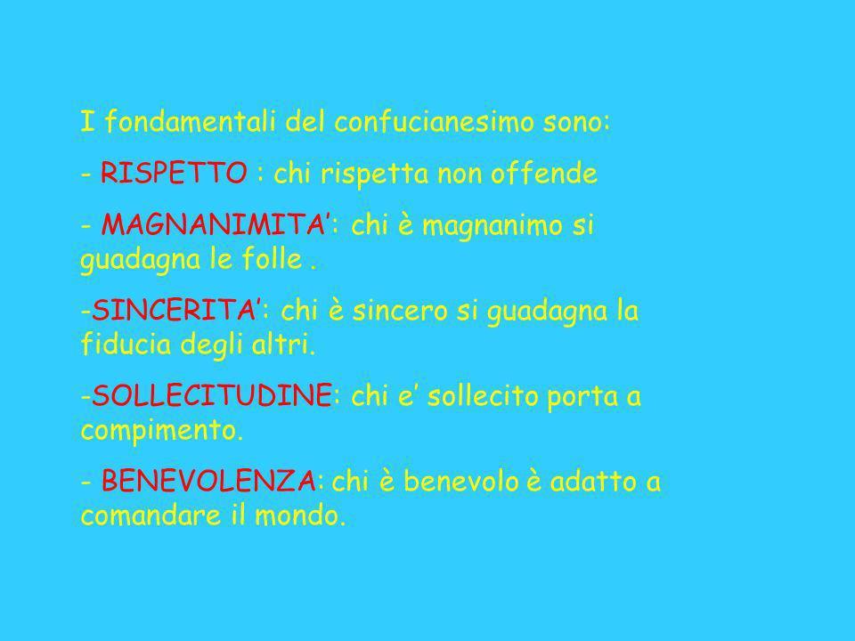 I fondamentali del confucianesimo sono: