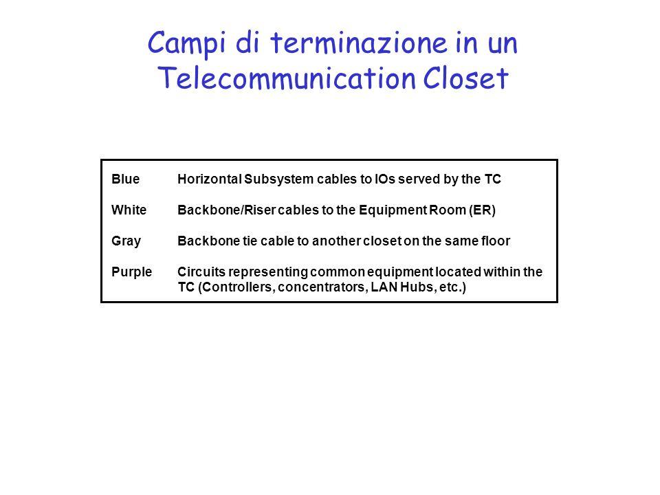 Campi di terminazione in un Telecommunication Closet