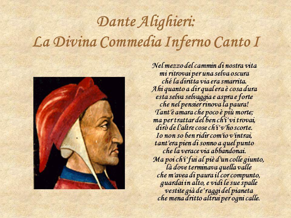 Dante Alighieri: La Divina Commedia Inferno Canto I